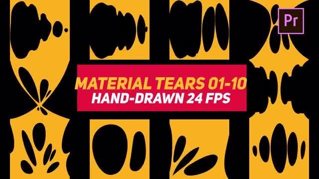 Liquid Elements Material Tears 01-10: Motion Graphics Templates