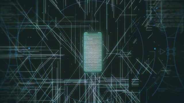 Smartphone HUD Analysis Background: Stock Motion Graphics