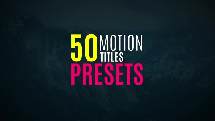Presets and Titles: Premiere Pro Presets