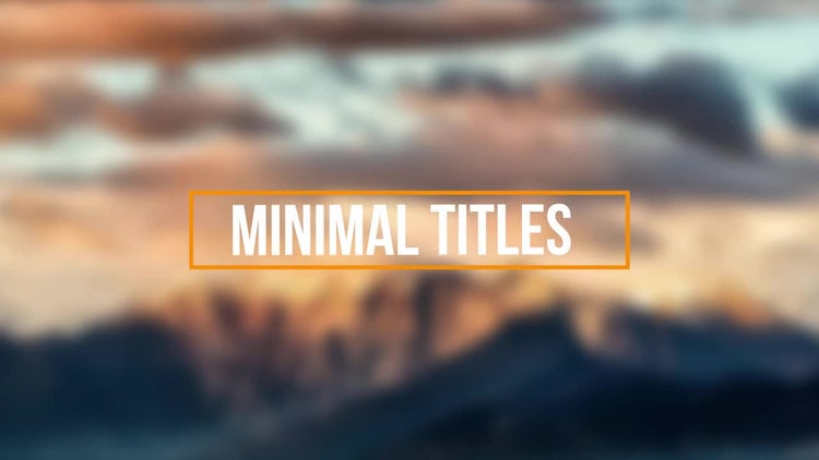 Minimal Title: After Effects Templates