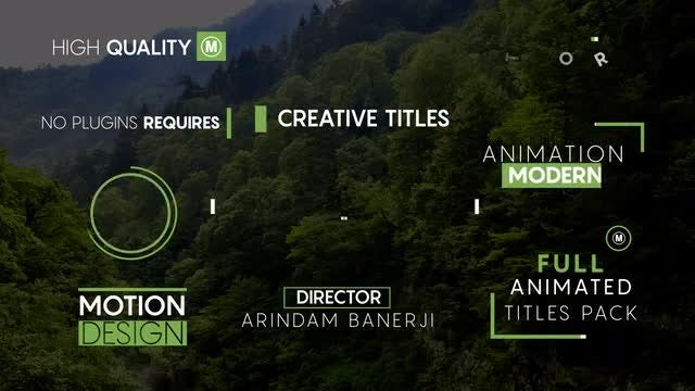 10 Minimal Titles V3: After Effects Templates