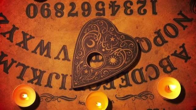 Witchcraft Ouija Spirit Game Board: Stock Video