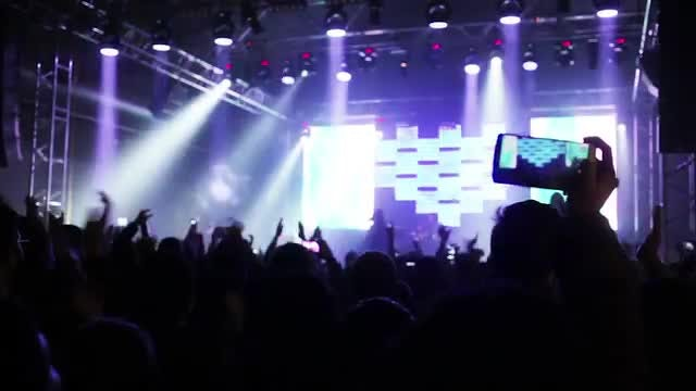 Concert-Goer Recording Live Event: Stock Video