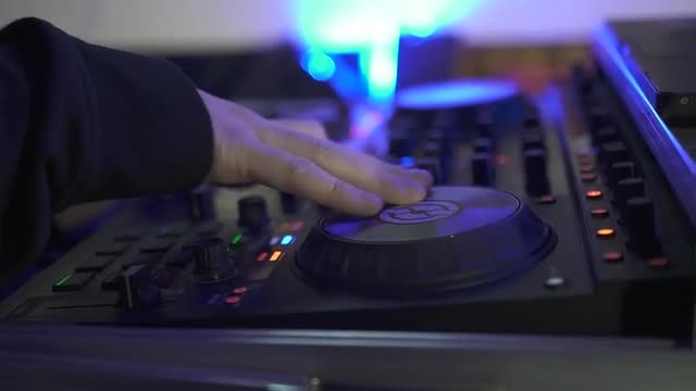 DJ Mixing Tracks: Stock Video