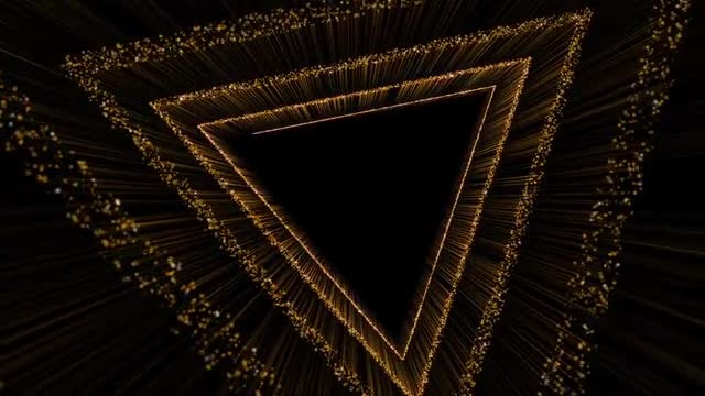 Gold Triangle 4K: Stock Motion Graphics
