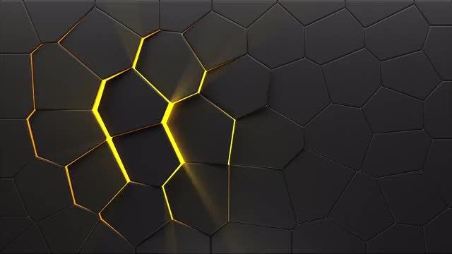 Light Peeks Through Tiles Background: Stock Motion Graphics