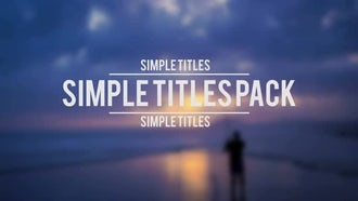 Simple Titles Pack: Premiere Pro Templates