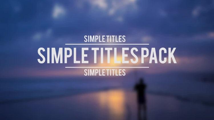Simple Titles Pack: Premiere Pro Templates
