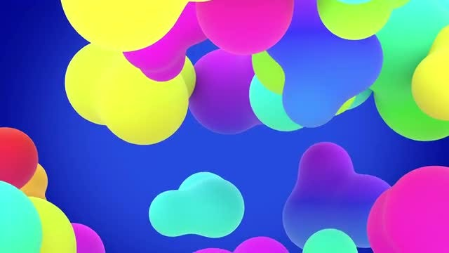 Rainbow blobs looped background: Stock Motion Graphics