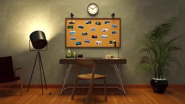 Corkboard Photo Slideshow: After Effects Templates