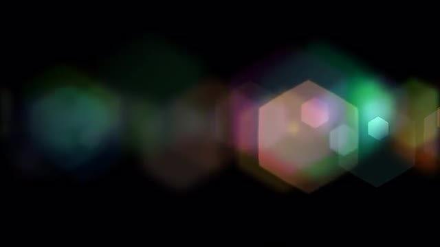 Hexagonal Bokeh: Stock Motion Graphics