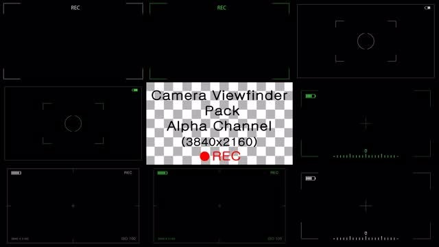 Camera Viewfinder Pack 8-In-1: Stock Motion Graphics