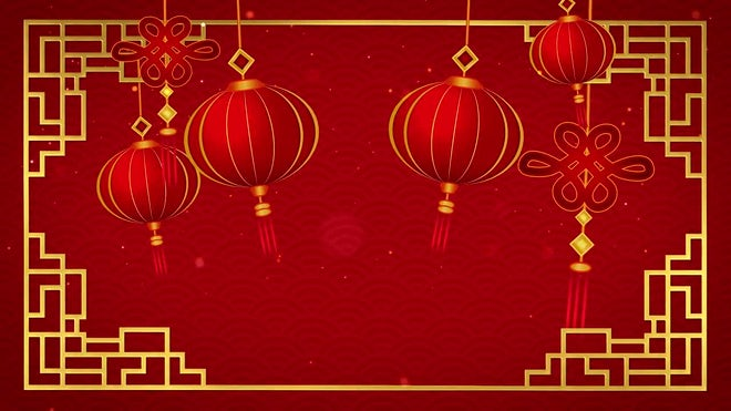 Chinese New Year Background Stock Motion Graphics Motion Array