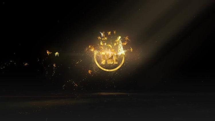 Golden Butterflies Logo: After Effects Templates