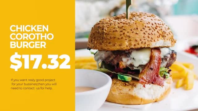 Modern Restaurant Promo: After Effects Templates