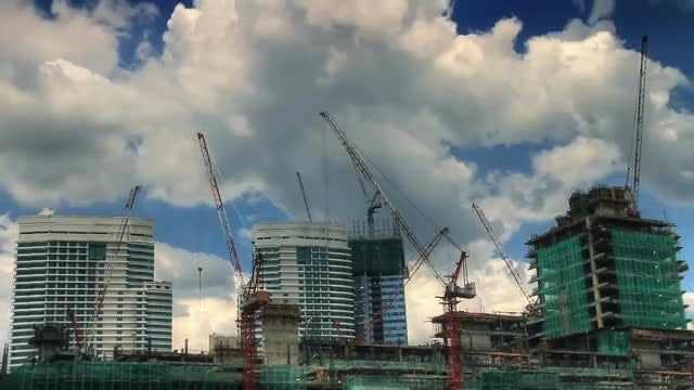 Building Under Construction Time Lapse: Stock Video