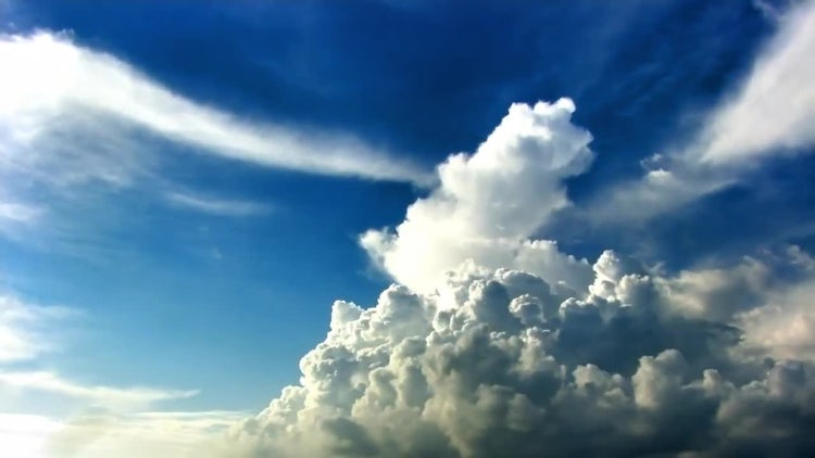 Time Lapse Of Cumulus Clouds: Stock Video