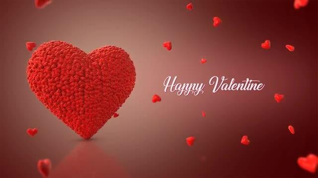 Happy Valentines Hearts Flocking: Stock Motion Graphics