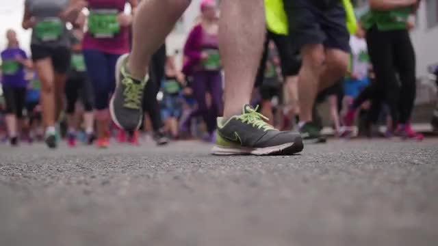 Run For A Cause: Stock Video