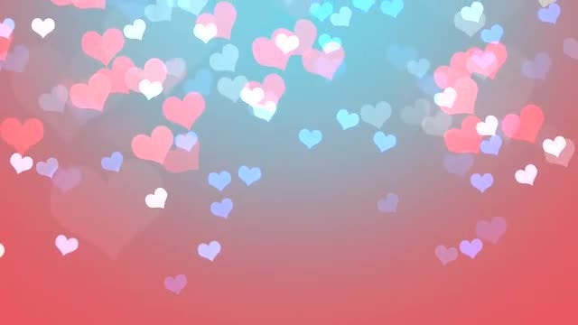 Falling Hearts Background: Stock Motion Graphics