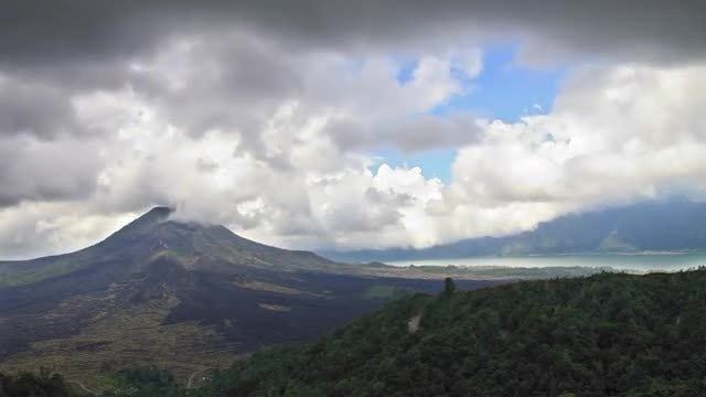 Time-Lapse Of Clouds Above A Volcano: Stock Video
