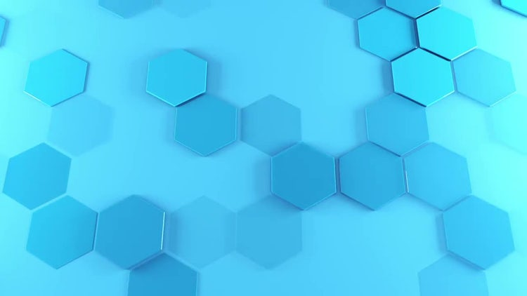 Hexagons Ramdon Visibility: Stock Motion Graphics