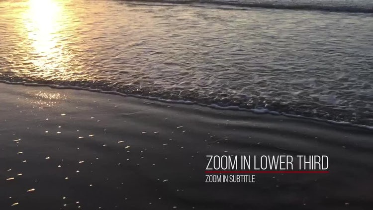Simple Zoom Lower Thirds: Premiere Pro Templates