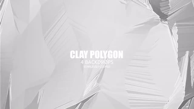 Clay Polygon: Stock Motion Graphics