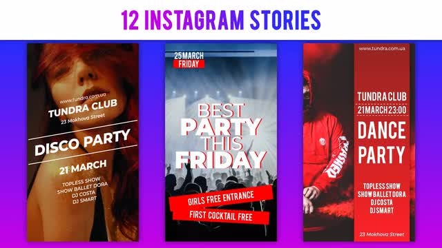 Stylish Posters For Instagram: After Effects Templates