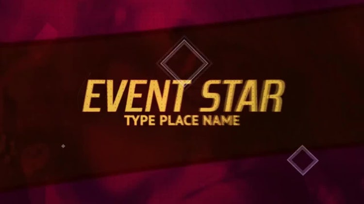 Event Star: After Effects Templates