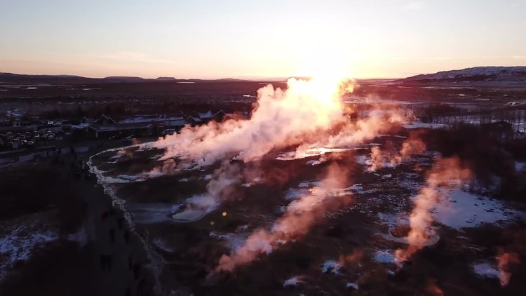 Strokkur Geyser In Iceland: Stock Video
