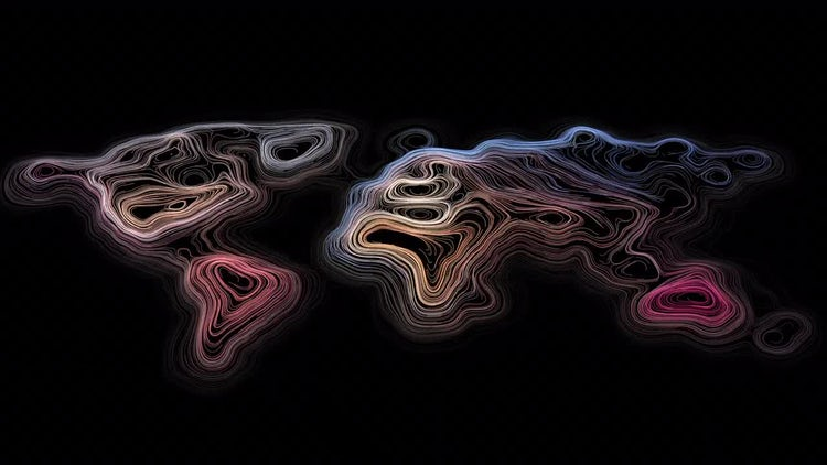 World Map Energy Flow: Stock Motion Graphics