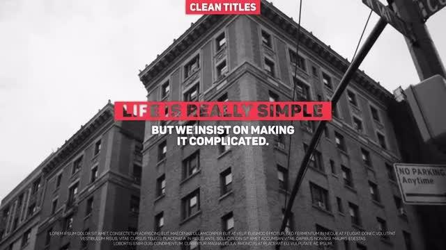 Clean Titles: Premiere Pro Templates