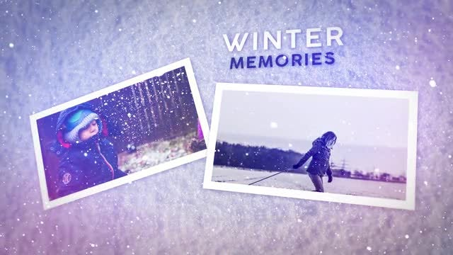Winter Memories: After Effects Templates