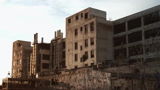Abandoned Automobile Factory: Stock Video