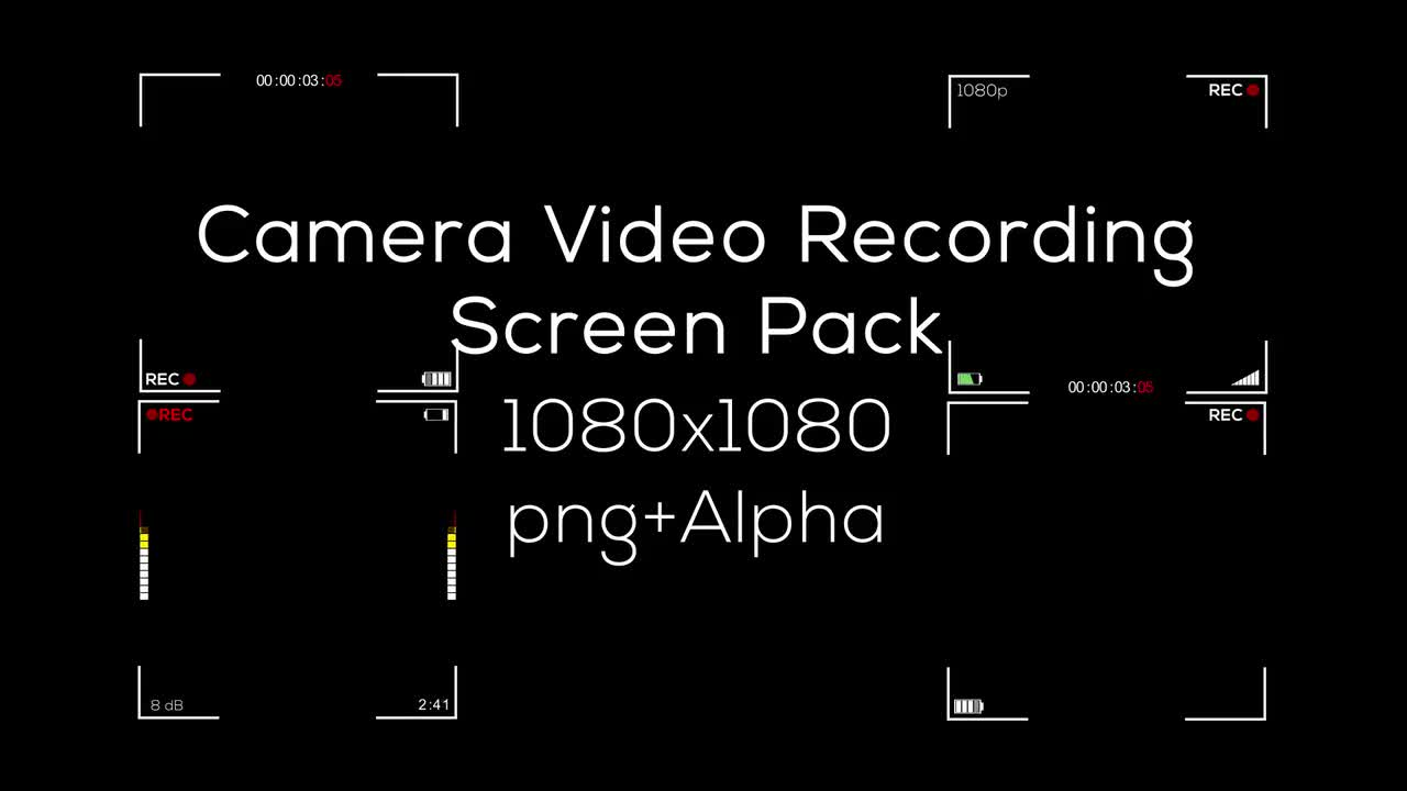 Square Video Recording Screen Pack - Stock Motion Graphics