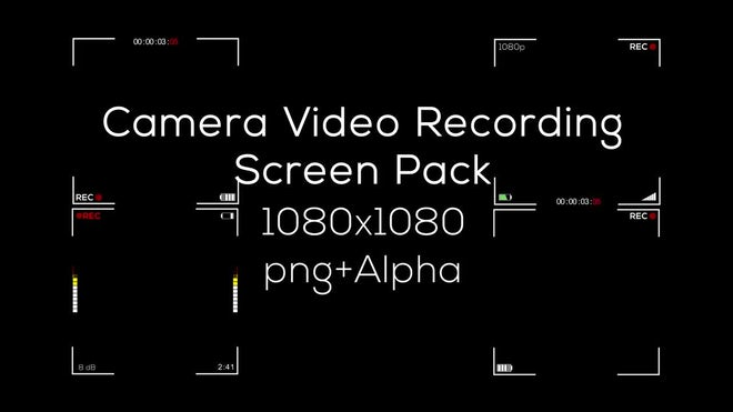 Camcorder Hud Overlay Stock Motion Graphics Motion Array