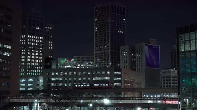 Metropolis At Night: Stock Video