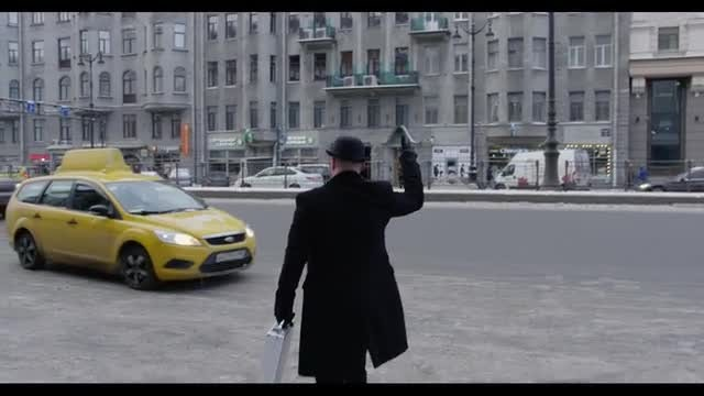 Man Hails Taxi: Stock Video