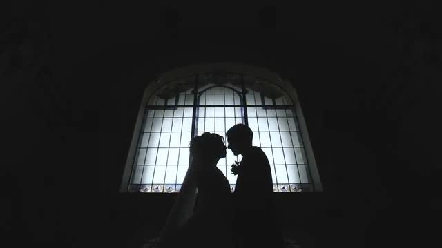 Wedding  Day Silhouette: Stock Video