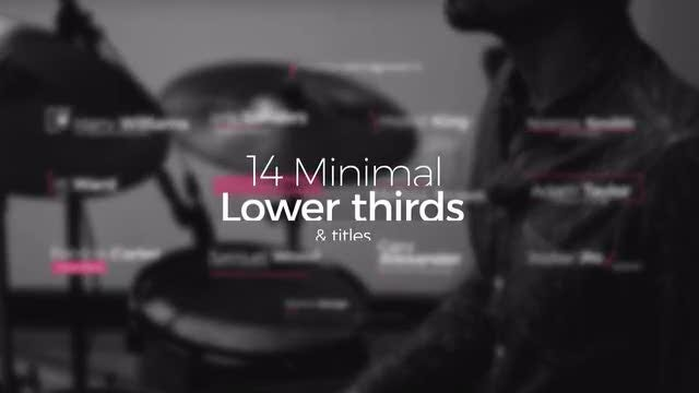 14 Minimal Lower Thirds & Titles: After Effects Templates