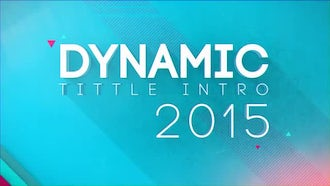 Dynamic Titles Intro: After Effects Templates