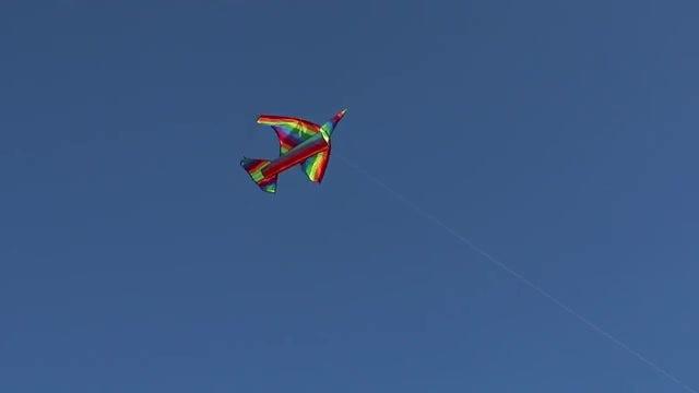 Colorful Kite In Sky: Stock Video