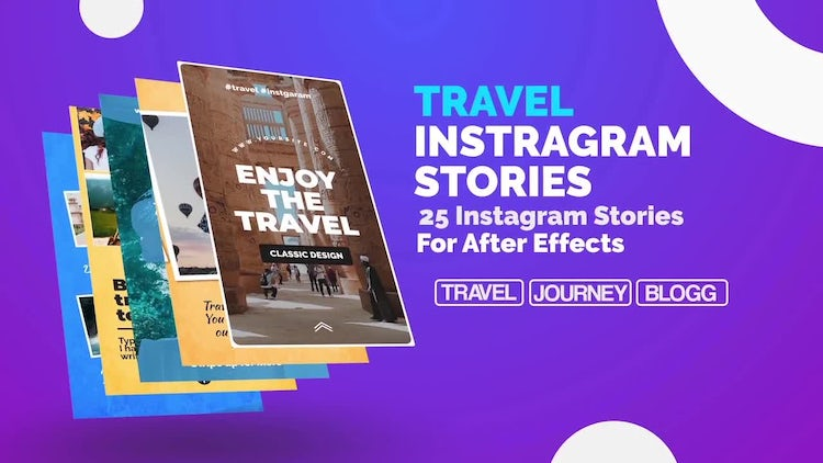 Travel Instagram Stories: After Effects Templates