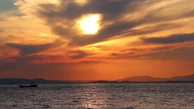 Orange Sky: Stock Video