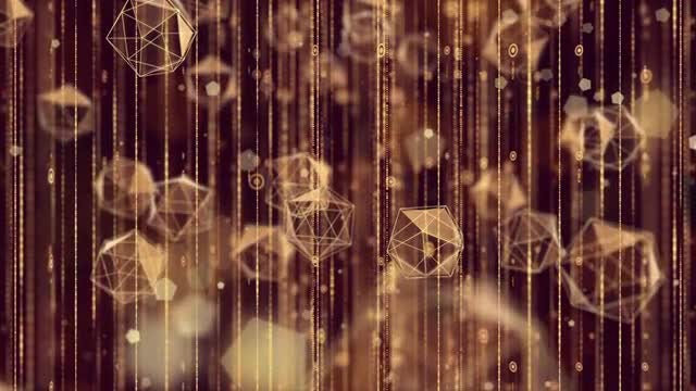 Shimmering Polyhedrons Background: Stock Motion Graphics