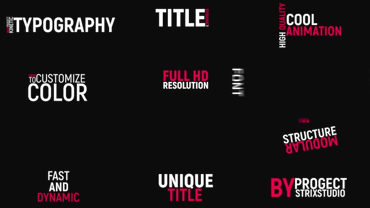 fast kinetic typography after effects templates motion array