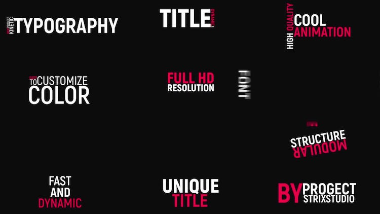 Fast Kinetic Typography: After Effects Templates
