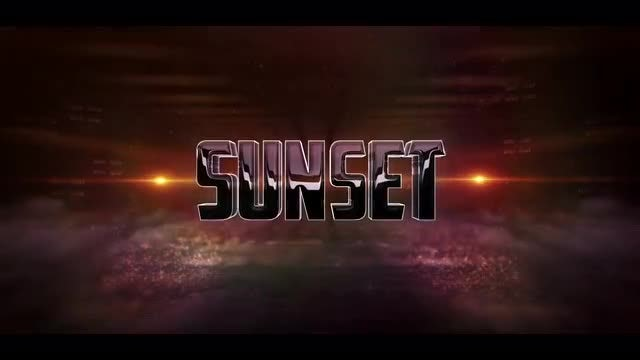 3D Sunset Logo: After Effects Templates