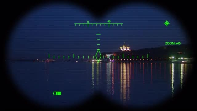 Digital Binoculars View: Stock Motion Graphics